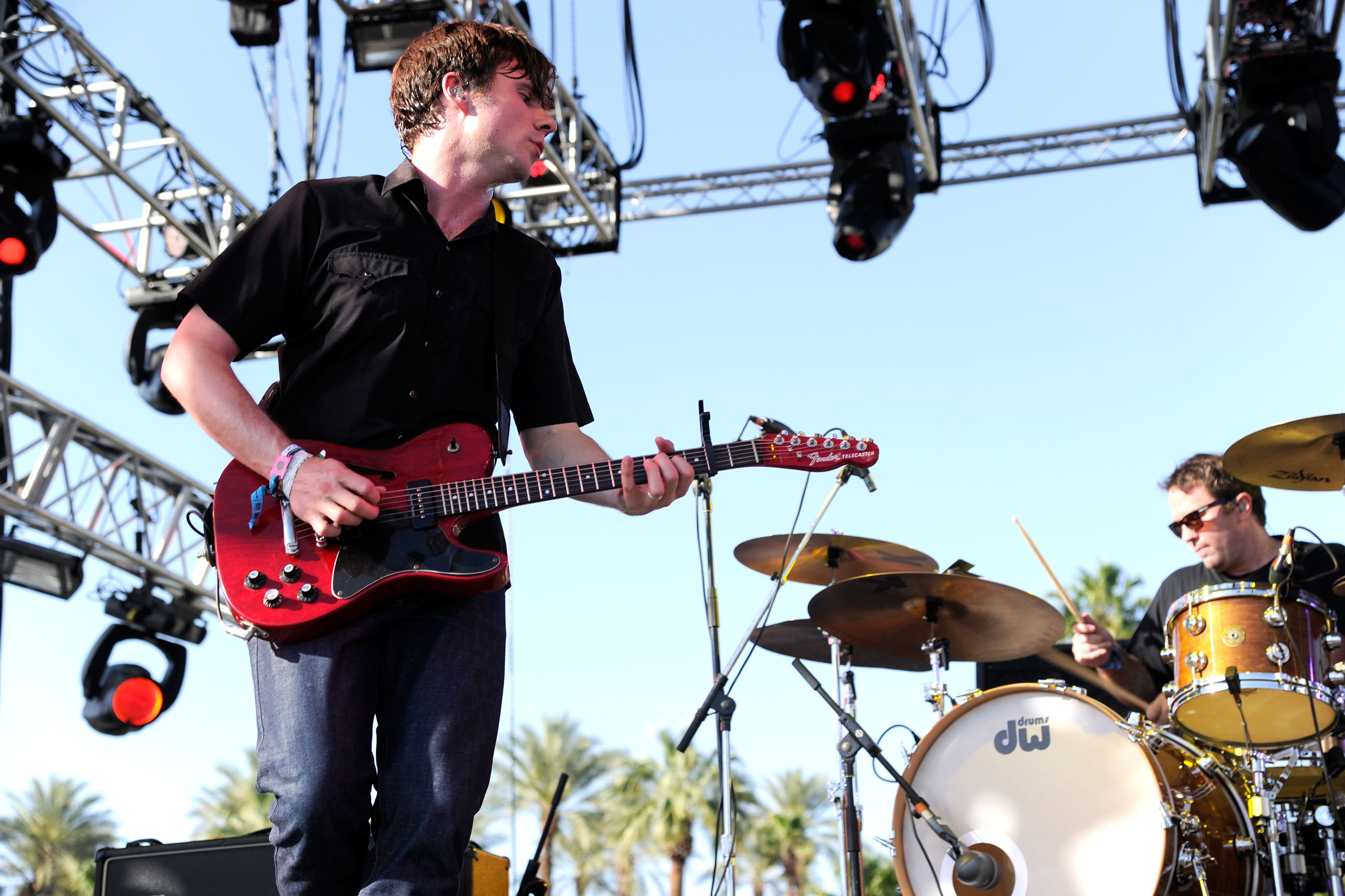 INDIO, CA - APRIL 17: Musician Jim Adkins of Jimmy Eat World performs during Day 3 of the Coachella Valley Music & Arts Festival 2011 held at the Empire Polo Club on April 17, 2011 in Indio, California. (Photo by Karl Walter/Getty Images)