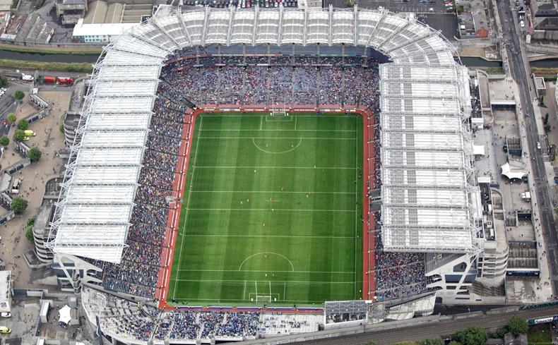 GAA All Ireland Senior Football Championship Quarter-Final 31/7/2010 An aerial view of Croke Park during the Kerry vs Down game Mandatory Credit ©INPHO/Norman McCloskey *** Local Caption ***
