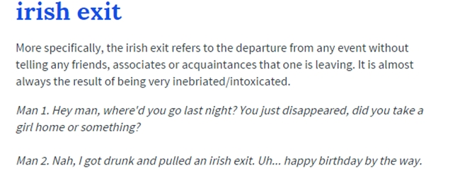 Irish sex urban dictionary