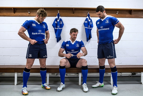 REPRO FREE***PRESS RELEASE NO REPRODUCTION FEE*** Canterbury Launch 2015/16 Leinster Rugby Jersey 18/8/2015 To celebrate the launch of the new 2015/16 season Leinster jersey, Canterbury, has today announced the biggest collection of money canÕt buy prizes and experiences in the clubÕs history. Fans are being asked to prove why they are LeinsterÕs most committed fan on CanterburyÕs Facebook page or by tweeting using #CommittedToLeinster Pictured (L-R) Ian Madigan, Jamie Heaslip and Rob Kearney Mandatory Credit ©INPHO/Dan Sheridan