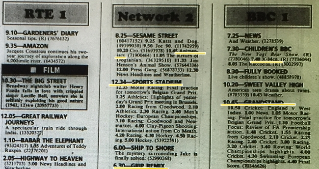 rte guide tv listings today