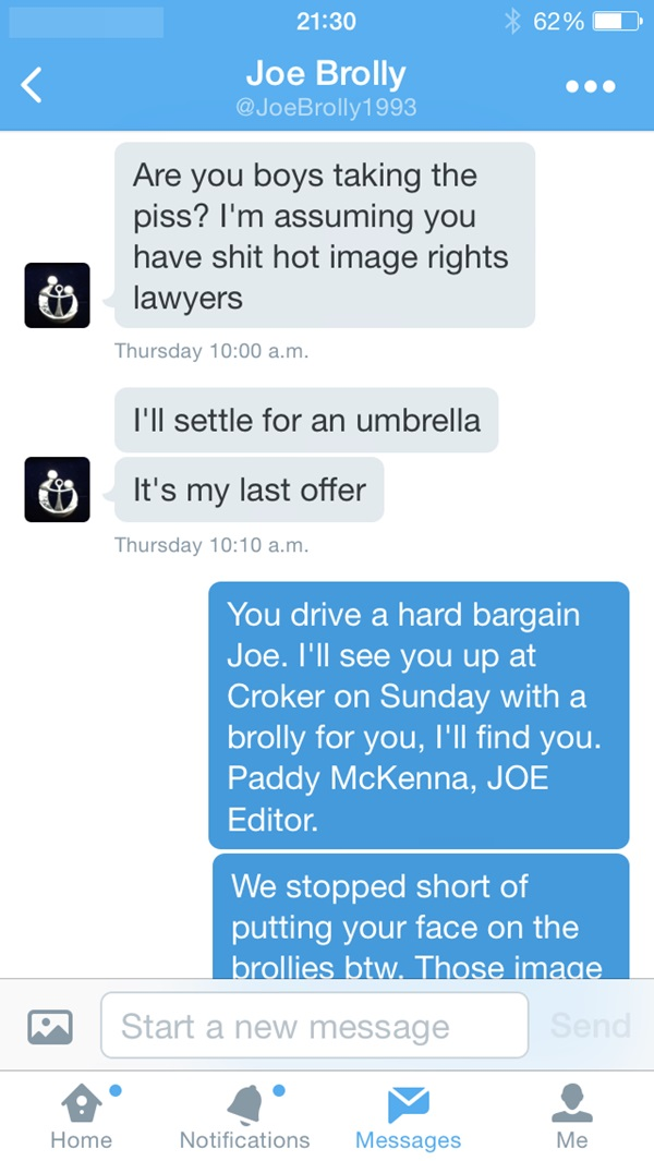 Joe Brolly tweet 1