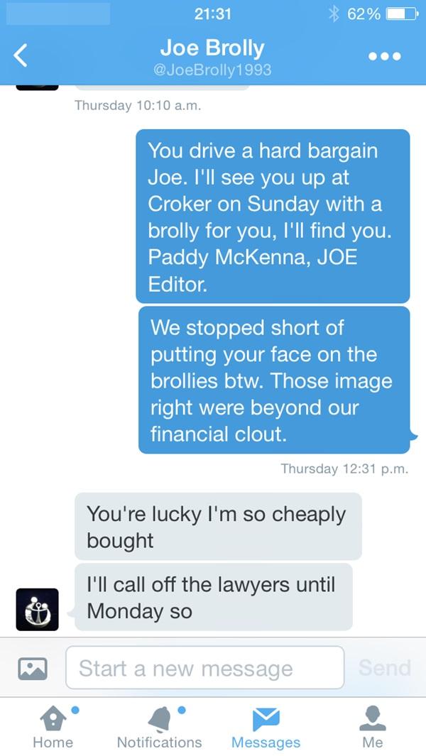 Joe Brolly tweet 2