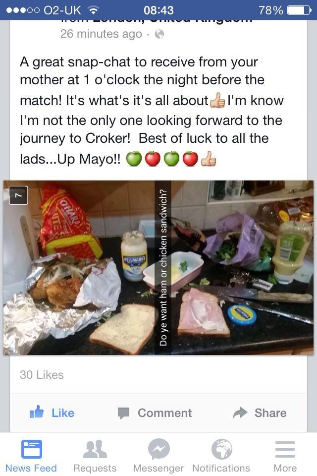 Snapchat pic Croke Park kitchen
