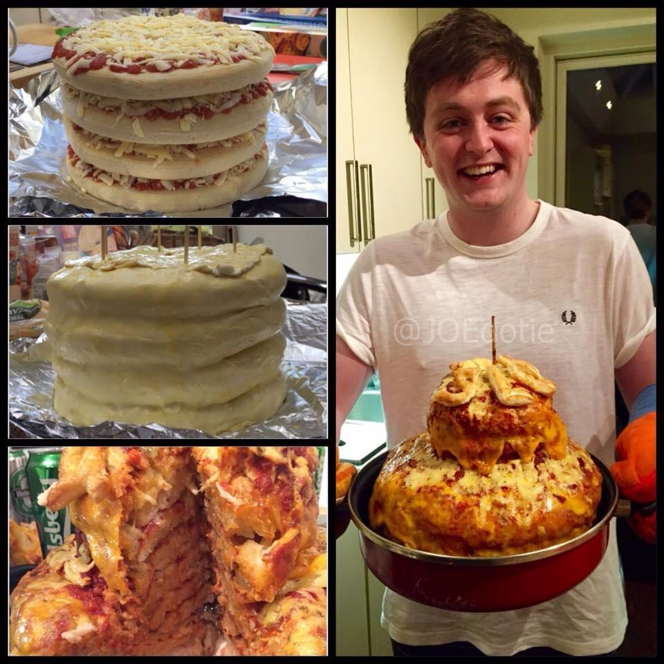 Pic Dublin Guys Make Their Friend A Ridiculous Pizza Cake For His
