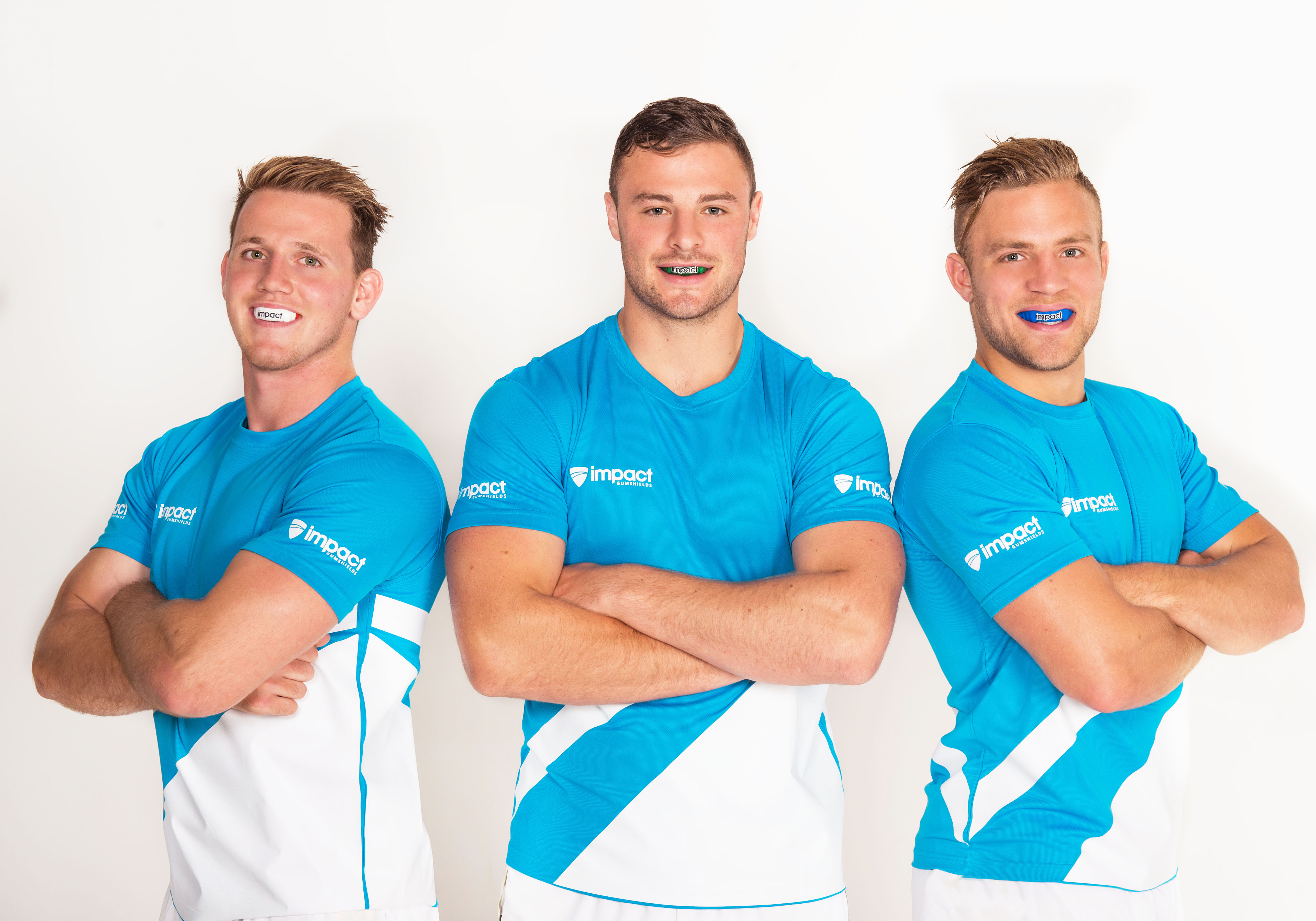 Impact Brand Ambassadors (L-R) Irish Rugby Internationals CraigGilroy,Robbie Henshaw and Ian Madigan