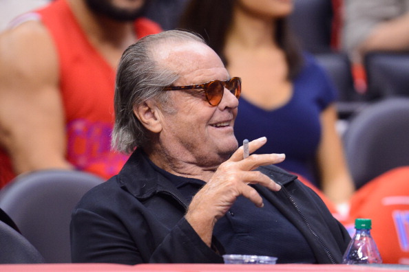 LOS ANGELES, CA - MAY 15: Jack Nicholson attends an NBA playoff game between the Oklahoma City Thunder and the Los Angeles Clippers at Staples Center on May 15, 2014 in Los Angeles, California. (Photo by Noel Vasquez/GC Images)