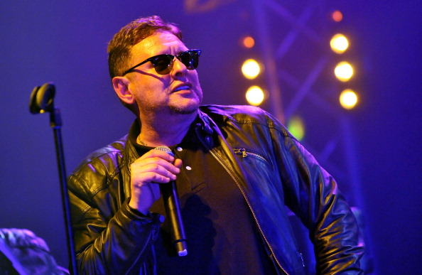 LONDON, ENGLAND - MAY 10: Shaun Ryder of the Happy Mondays performs live on stage during a reunion tour, featuring 'the original and definitive lineup', at Brixton Academy on May 10, 2012 in London, United Kingdom. (Photo by Jim Dyson/Redferns via Getty Images)