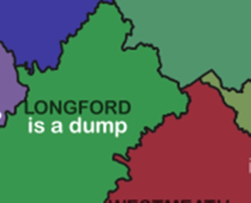 Map Of Ireland Longford.Pic The Google Autocomplete Map Of Ireland Is The Funniest Map Of