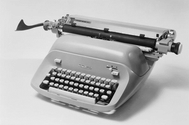 11th March 1966: A Royal typewriter. (Photo by Chaloner Woods/Getty Images)