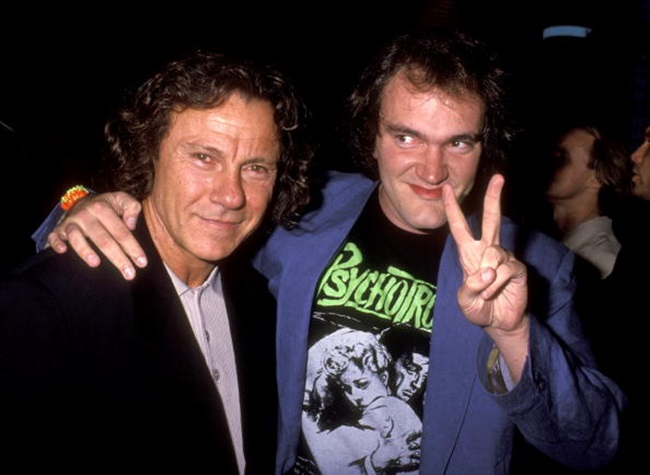 Harvey Keitel and Quentin Tarantino (Photo by Ron Galella/WireImage)