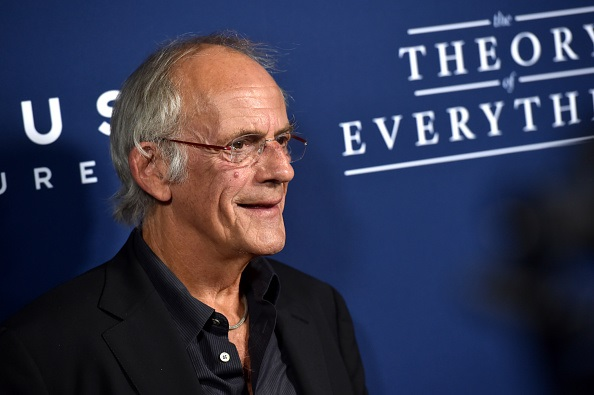 """BEVERLY HILLS, CA - OCTOBER 28: Actor Christopher Lloyd arrives to the premiere of Focus Features' """"The Theory Of Everything"""" at AMPAS Samuel Goldwyn Theater on October 28, 2014 in Beverly Hills, California. (Photo by Kevin Winter/Getty Images)"""