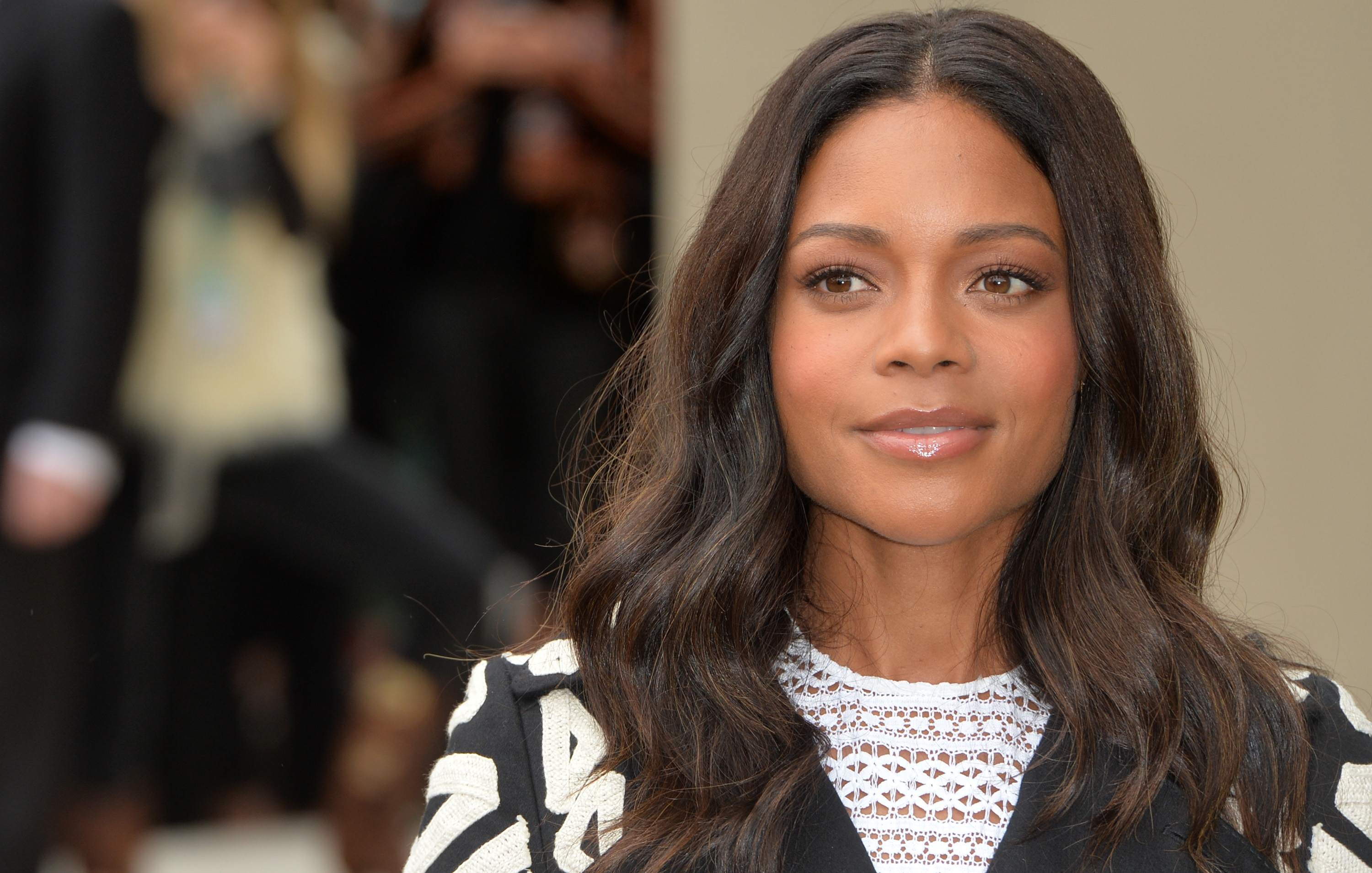 LONDON, ENGLAND - SEPTEMBER 21: Naomie Harris attends the Burberry Prorsum show during London Fashion Week Spring/Summer 2016/17 on September 21, 2015 in London, England. (Photo by Anthony Harvey/Getty Images)