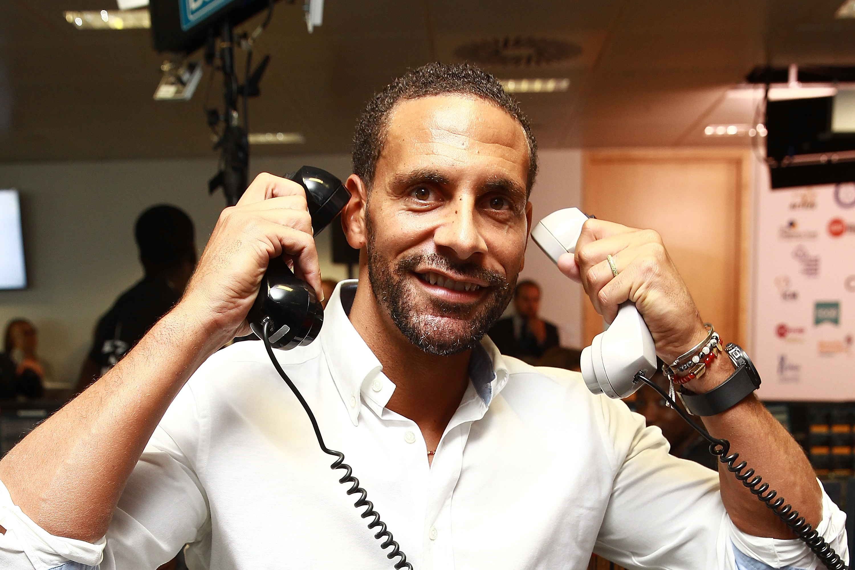 LONDON, ENGLAND - SEPTEMBER 11: Rio Ferdinand attends the annual BGC Global Chariry Day at BGC Partners on September 11, 2015 in London, England. (Photo by Fred Duval/Getty Images)