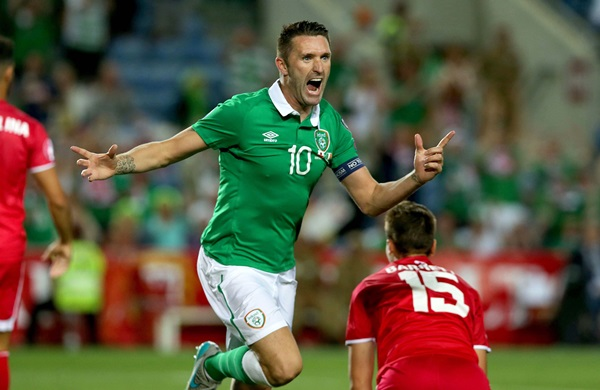 UEFA European Championship 2016 Qualifying Round, Estadio do Algarve, Faro, Portugal 4/9/2015 Gibraltar vs Republic of Ireland Ireland's Robbie Keane celebrates scoring their second goal Mandatory Credit ©INPHO/Donall Farmer