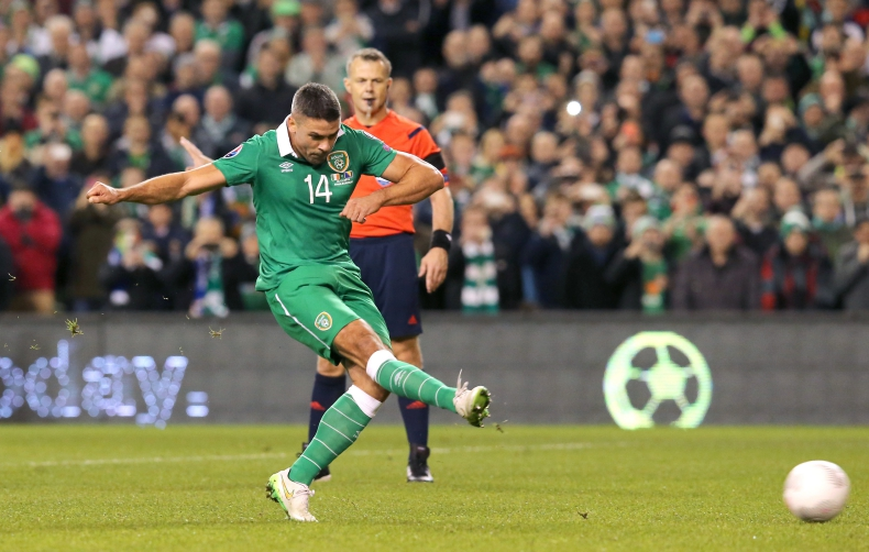 UEFA 2016 European Championship Play-Off 2nd Leg, Aviva Stadium, Dublin 16/11/2015 Republic of Ireland vs Bosnia-Herzegovina Republic of Ireland's Jonathan Walters scores a penalty Mandatory Credit ©INPHO/Morgan Treacy