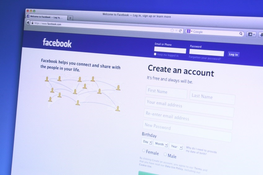 Johor, Malaysia - Dec 9, 2013: Photo of Facebook homepage on a monitor screen. As of today, Facebook is the largest social media network on the web, Dec 9, 2013 in Johor, Malaysia.