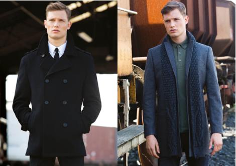 2377b479eec32 Black pure wool peacoat €235 Slim fit white shirt €45 Black narrow width  wool-silk woven tie €29.99