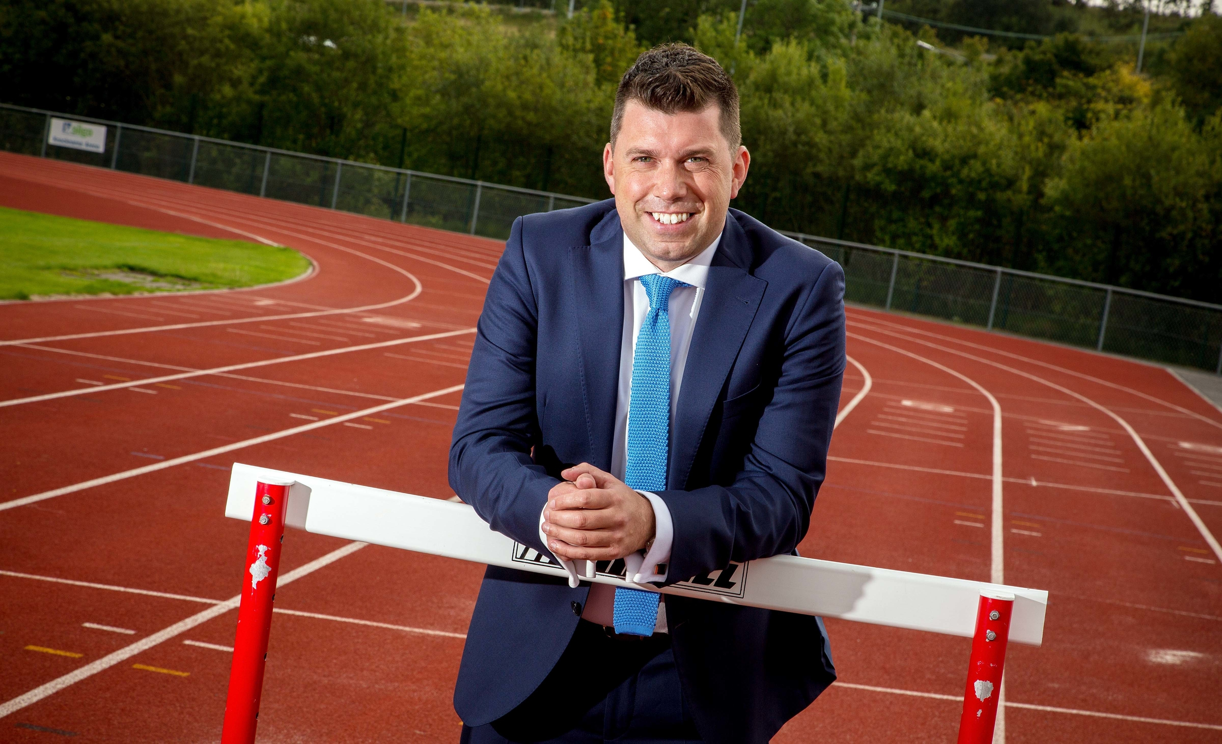Dr Brian Moore, Founder and MD of ORRECO, based at based at IT Sligo's Innovation Centre, on at the running track at IT Sligo. Photo: James Connolly 14SEP15