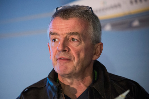 NEW YORK, NY - SEPTEMBER 08: Michael O'Leary, CEO of Ryanair holds a press conference with Boeing announcing the first sales of Boeing's new 737 Max 200 to RyanAir on September 8, 2014 in New York City. RyanAir will purchase at least 100 of the planes. (Photo by Andrew Burton/Getty Images)