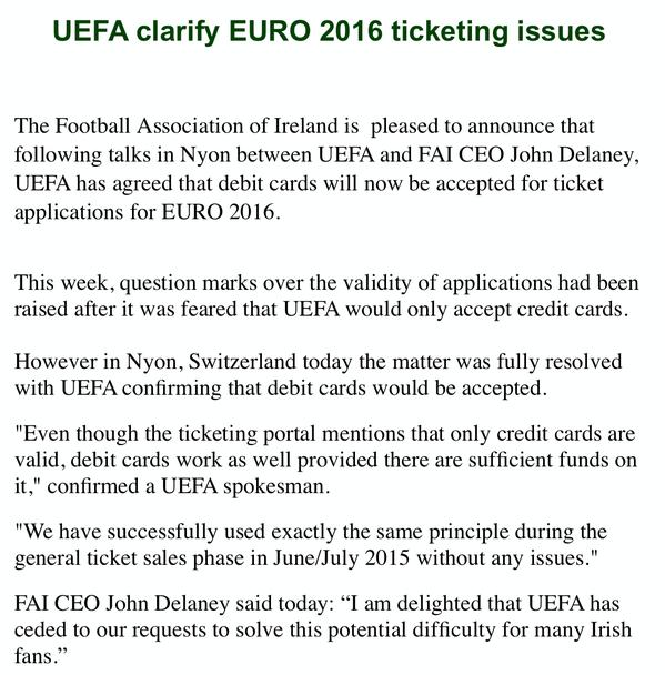 FAI Euro 2016 statement