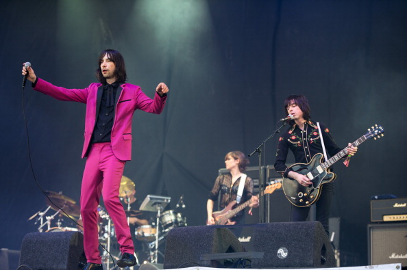 GLASTONBURY, ENGLAND - JUNE 29: Bobby Gillespie of Primal Scream performs on the Pyramid Stage during day 3 of the 2013 Glastonbury Festival at Worthy Farm on June 29, 2013 in Glastonbury, England. (Photo by Ian Gavan/Getty Images)