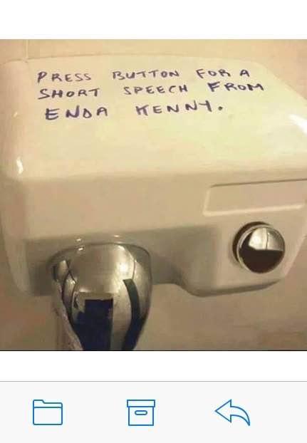 Enda Kenny hand dryer