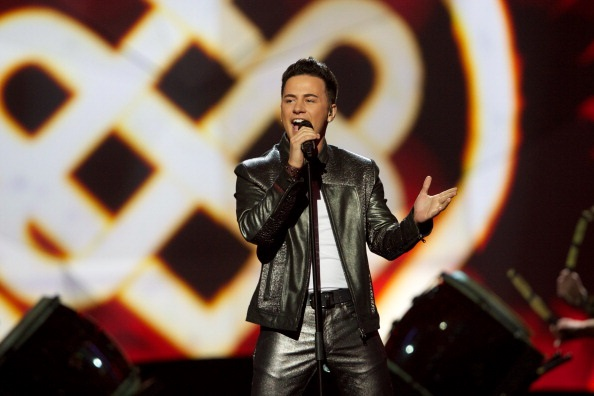MALMO, SWEDEN - MAY 14: Ryan Dolan of Ireland performs on stage during the first semi final of the Eurovision Song Contest 2013 at Malmo Arena on May 14, 2013 in Malmo, Sweden. (Photo by Ragnar Singsaas/Getty Images)