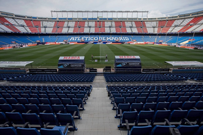 MADRID, SPAIN - AUGUST 22: General view of Vicente Calderon Stadium pitch before the La Liga match between Club Atletico de Madrid and UD Las Palmas at on August 22, 2015 in Madrid, Spain. (Photo by Gonzalo Arroyo Moreno/Getty Images)