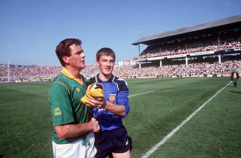 Leinster Football Championship Third Replay Dublin vs Meath 6/7/1991 Colm O'Rourke of Meath and John O'Leary of Dublin Mandatory Credit ©INPHO