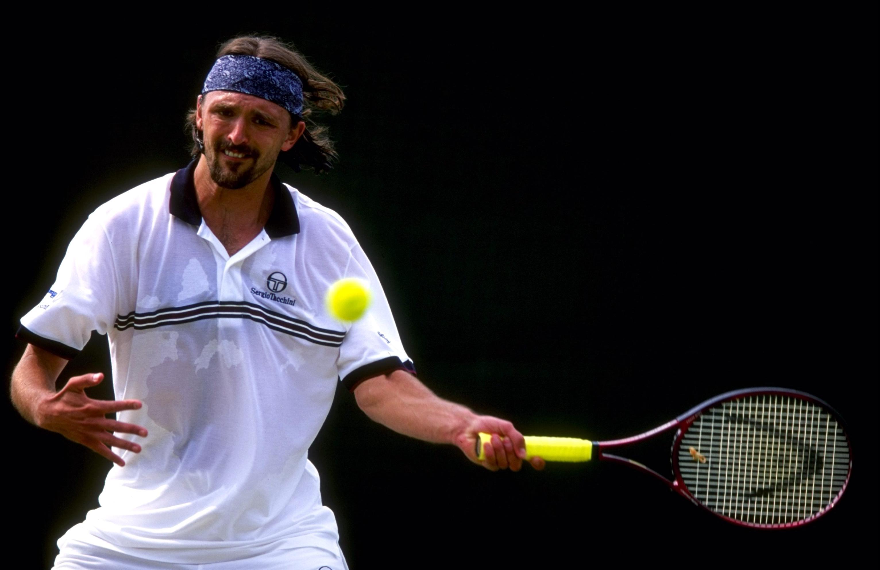 Wimbledon 24/6/1999 Goran Ivanisevic of Croatia ©INPHO/Allsport
