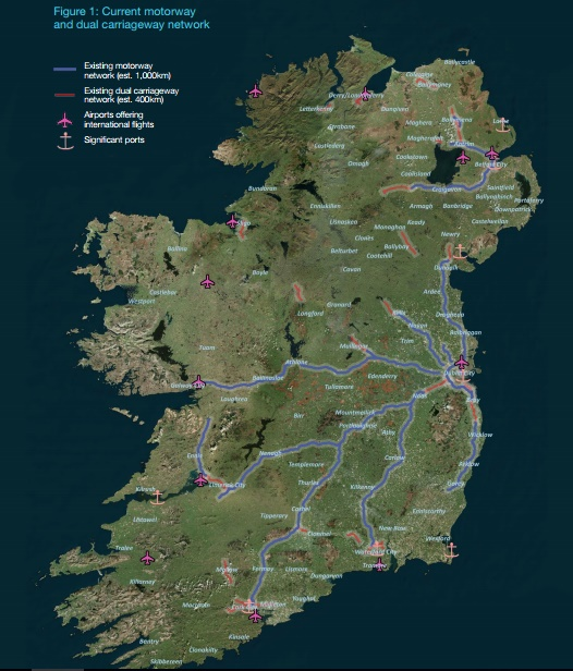 Map Of Ireland 2050.Pic This Is What A Proposed All Ireland Motorway Network Would Look