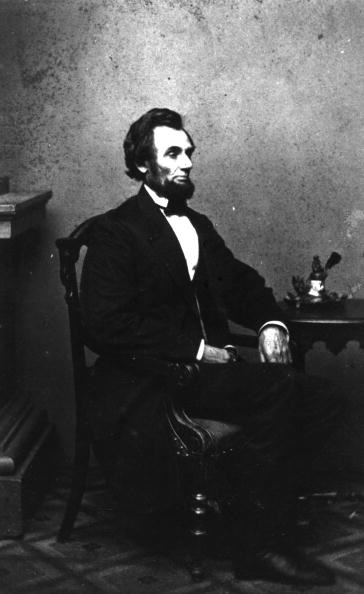 American statesman Abraham Lincoln (1809 - 1865), who became the 16th President of the United States of America in 1861 and governed until his assassination in 1865. Original Publication: People Disc - HG0154 (Photo by Hulton Archive/Getty Images)