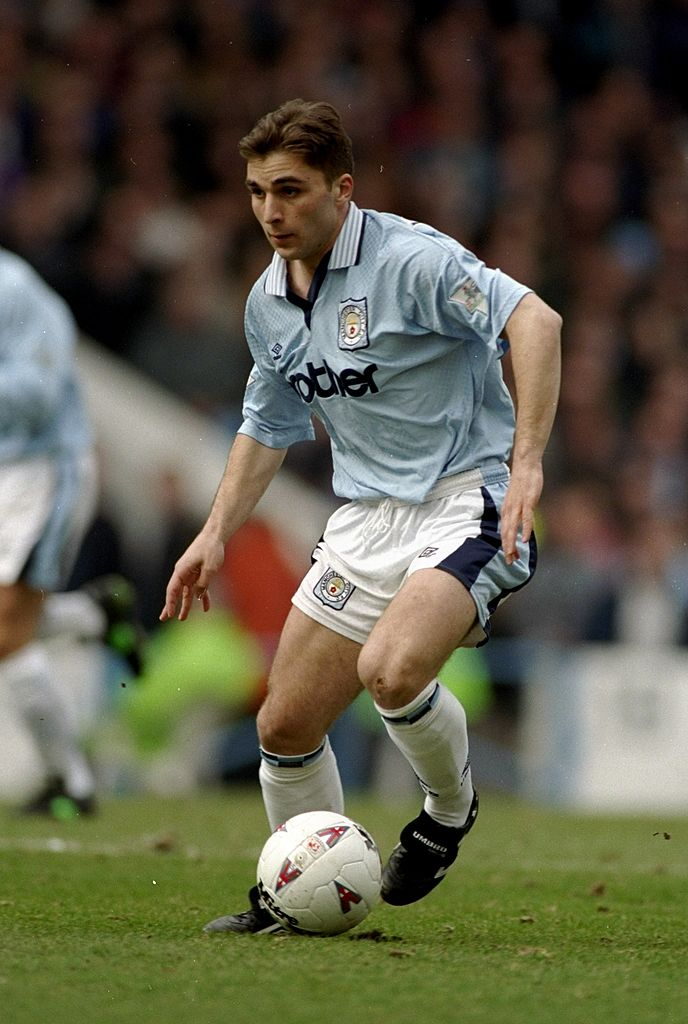3 Apr 1999: Georgi Kinkladze of Manchester City in action during the FA Premiership match against Sheffield Wednesday played at Maine Road in Manchester, England. Mandatory Credit: Clive Brunskill /Allsport