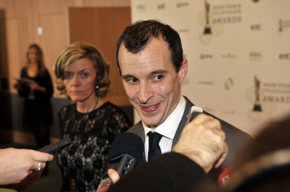 DUBLIN, IRELAND - FEBRUARY 09: Tom Vaughan Lawlor poses in the Press Room at the Irish Film and Television Awards at Convention Centre Dublin on February 9, 2013 in Dublin, Ireland. (Photo by Clodagh Kilcoyne/Getty Images)