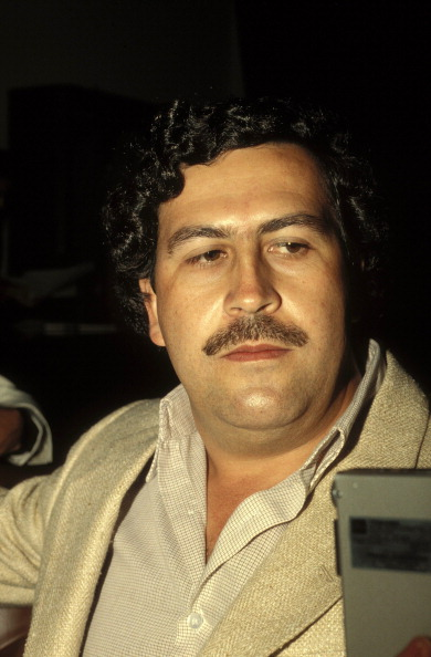 COLOMBIA - FEBRUARY 01: Pablo Escobar, the godfather of the Medellin Cartel in Colombia in February , 1988. (Photo by Eric VANDEVILLE/Gamma-Rapho via Getty Images)