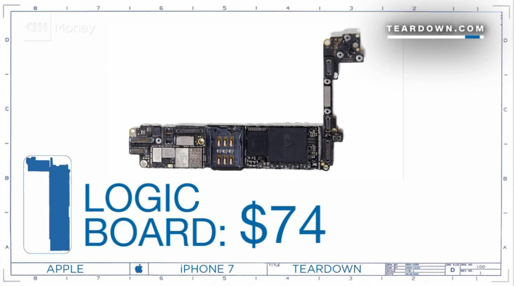 Manufacturing Cost Of IPhone 7 Revealed Image 4