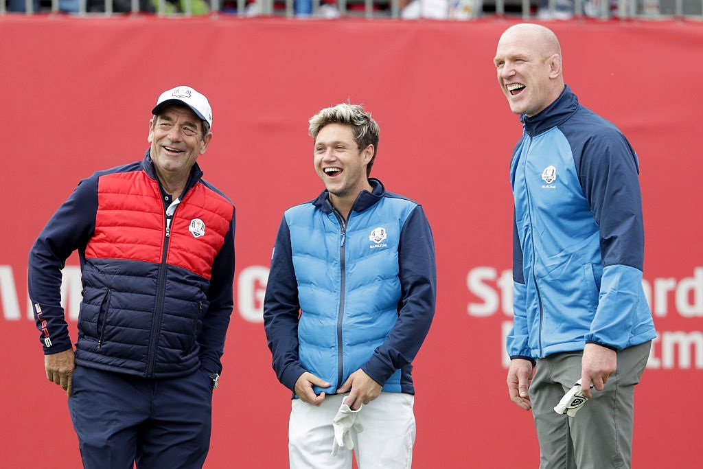 during the 2016 Ryder Cup Celebrity Matches at Hazeltine National Golf Club on September 27, 2016 in Chaska, Minnesota.