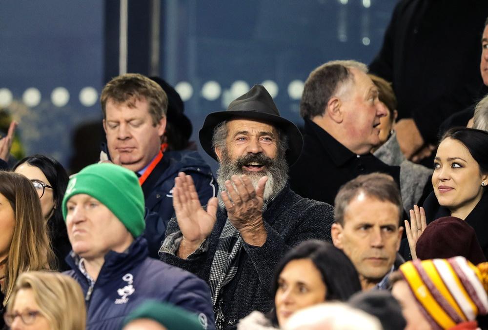 Guinness Series, Aviva Stadium, Dublin 26/11/2016 Ireland vs Australia Actor Mel Gibson at the game Mandatory Credit ©INPHO/Morgan Treacy