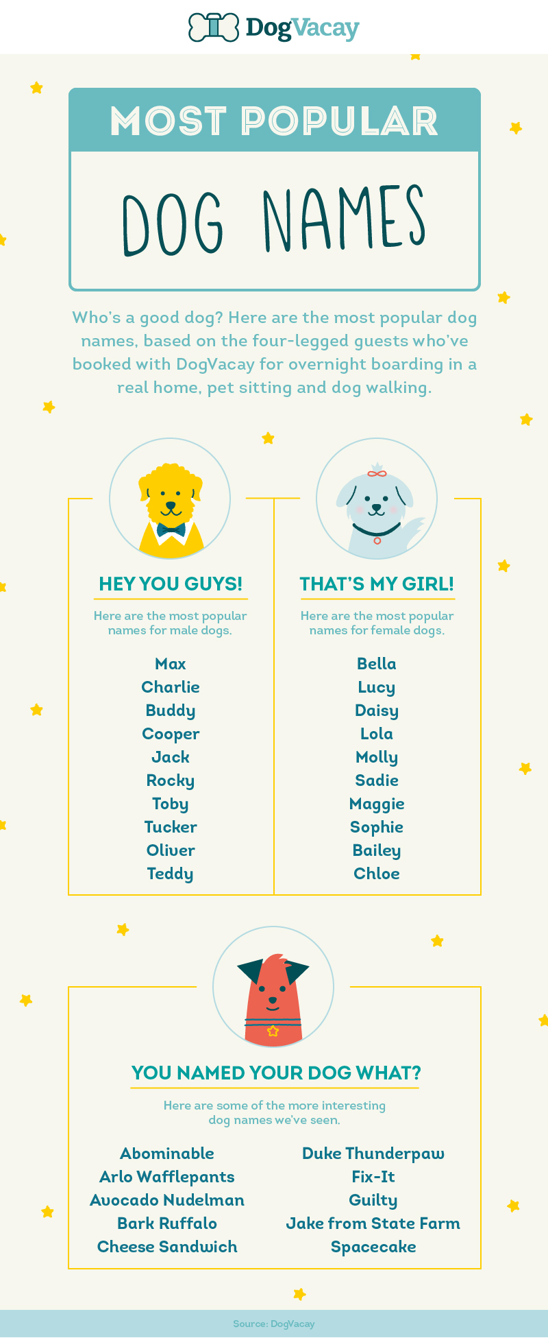 Does your dog's name feature in the most popular dog names