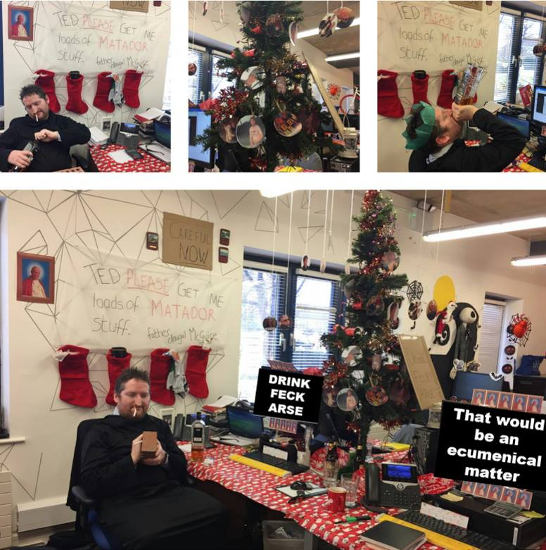 Pics This Dublin Office S Home Alone Themed Christmas