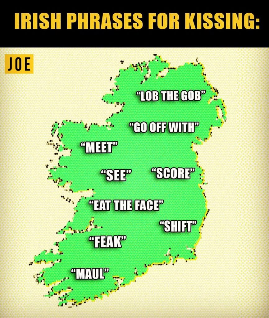 20 Different Phrases Irish People Use For Kissing Joe Is The Voice