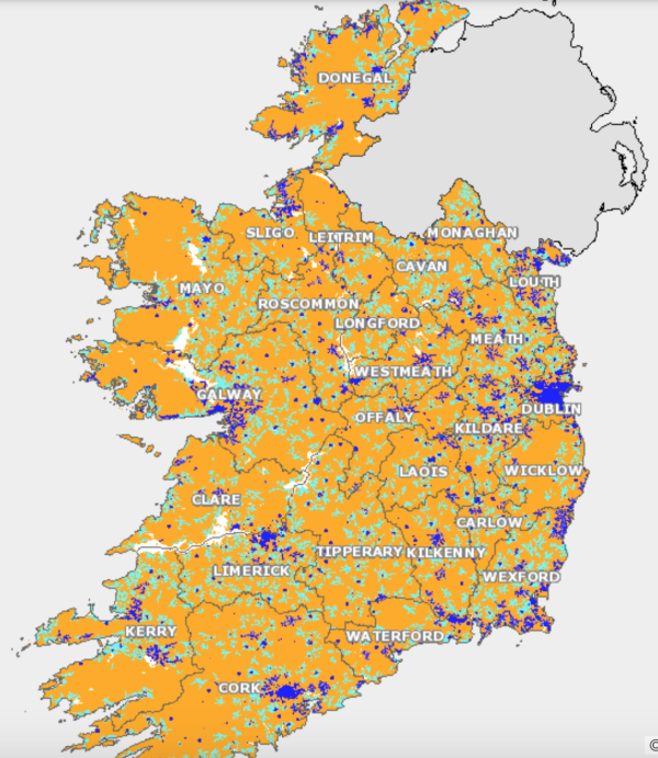 Interactive Map Of Ireland.Plans For High Speed Broadband Around Ireland Have Suffered A