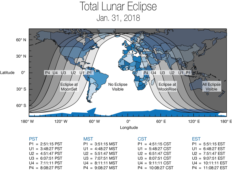 'Super Blue Blood Moon' Coming Wednesday