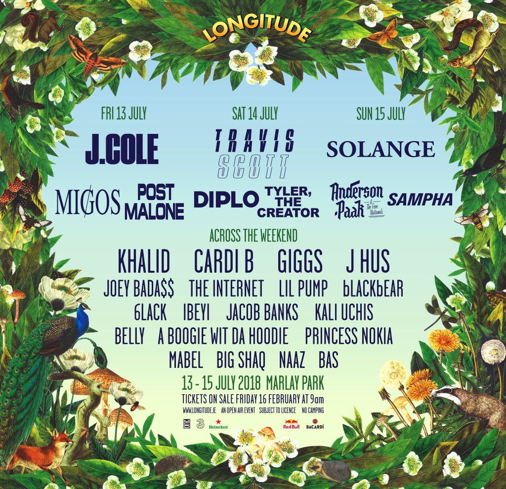 The Longitude Festival line up for 2018 is pretty impressive