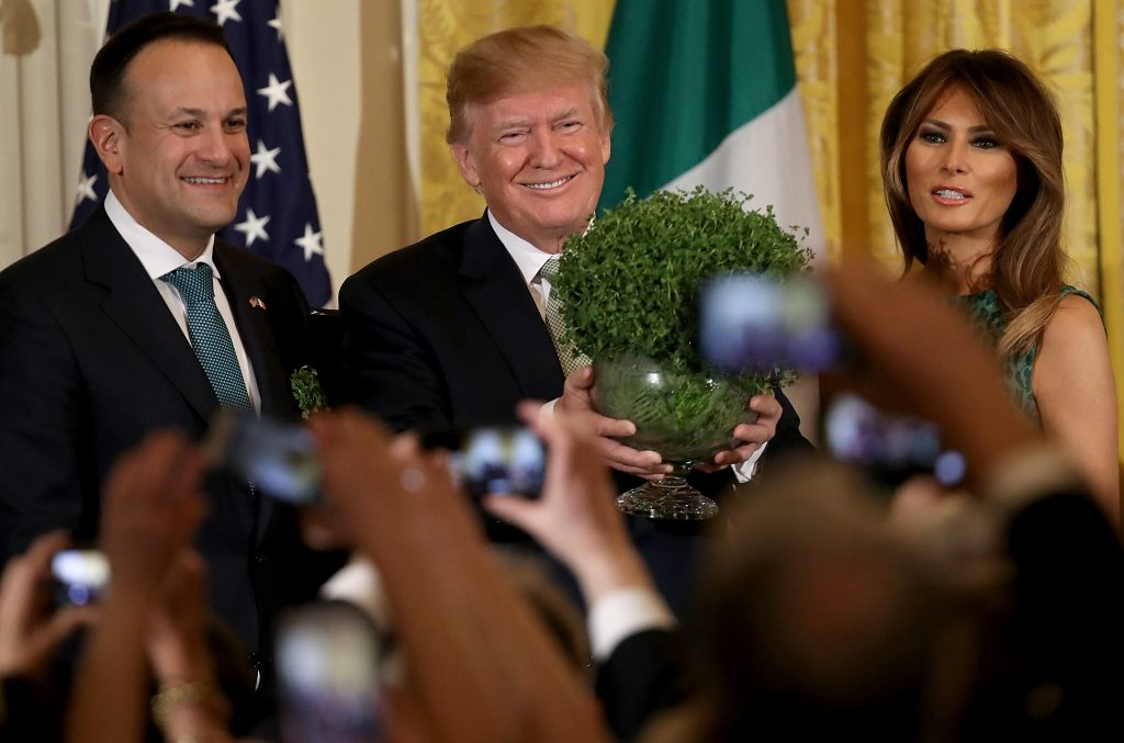 President Donald Trump says he intends to visit Ireland next year