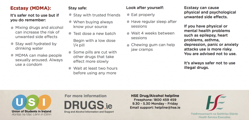 HSE issues drugs harm reduction information for those