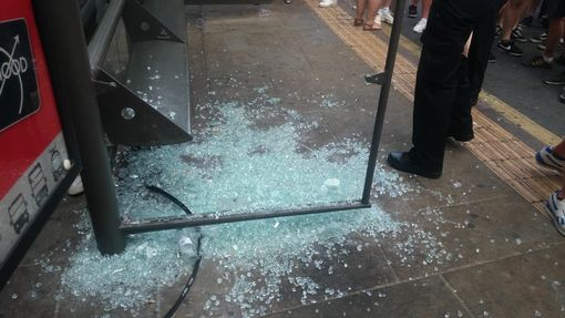London ambulance damaged as England fans celebrate World Cup quarter-final win