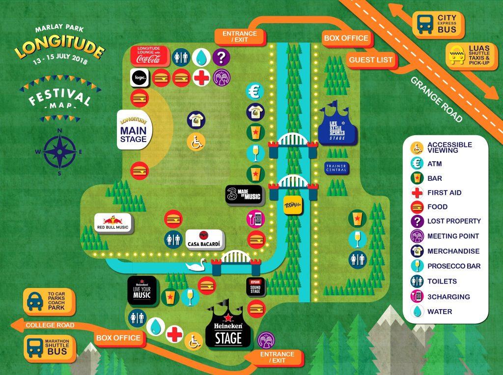 Longitude 2018 festival map