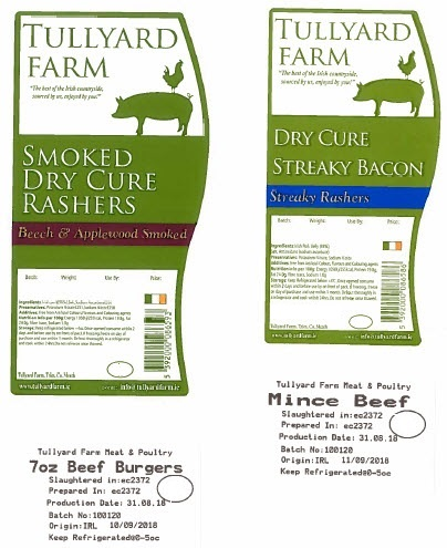Two separate food recalls issued by the Food Safety